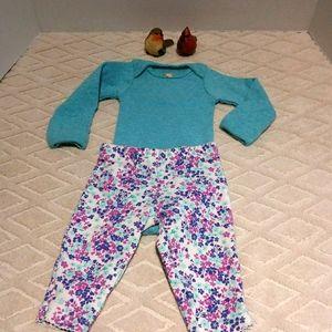 Bundle of Carter's onesie shirt and owl pants